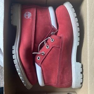 Woman's Red Timberland Boots - Sz 9
